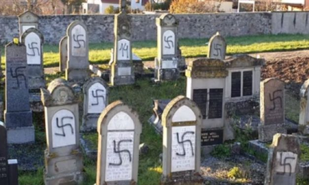 Over 100 Jewish graves defaced with swastikas in France