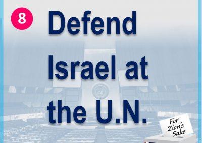 Defend Israel at the UN