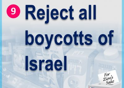 Reject all boycotts