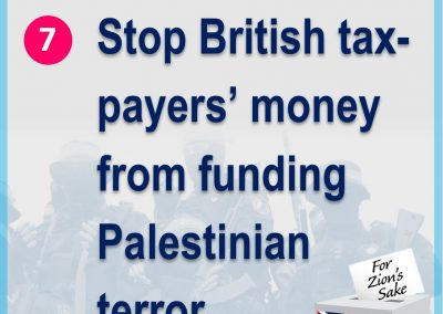 Stop Palestinian funding