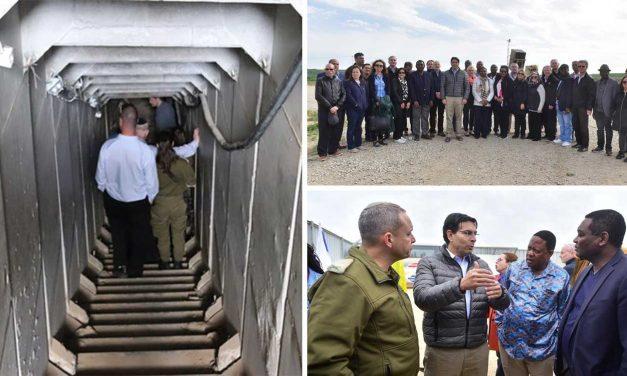Israel gives UN ambassadors a guided tour through Hamas terror tunnels
