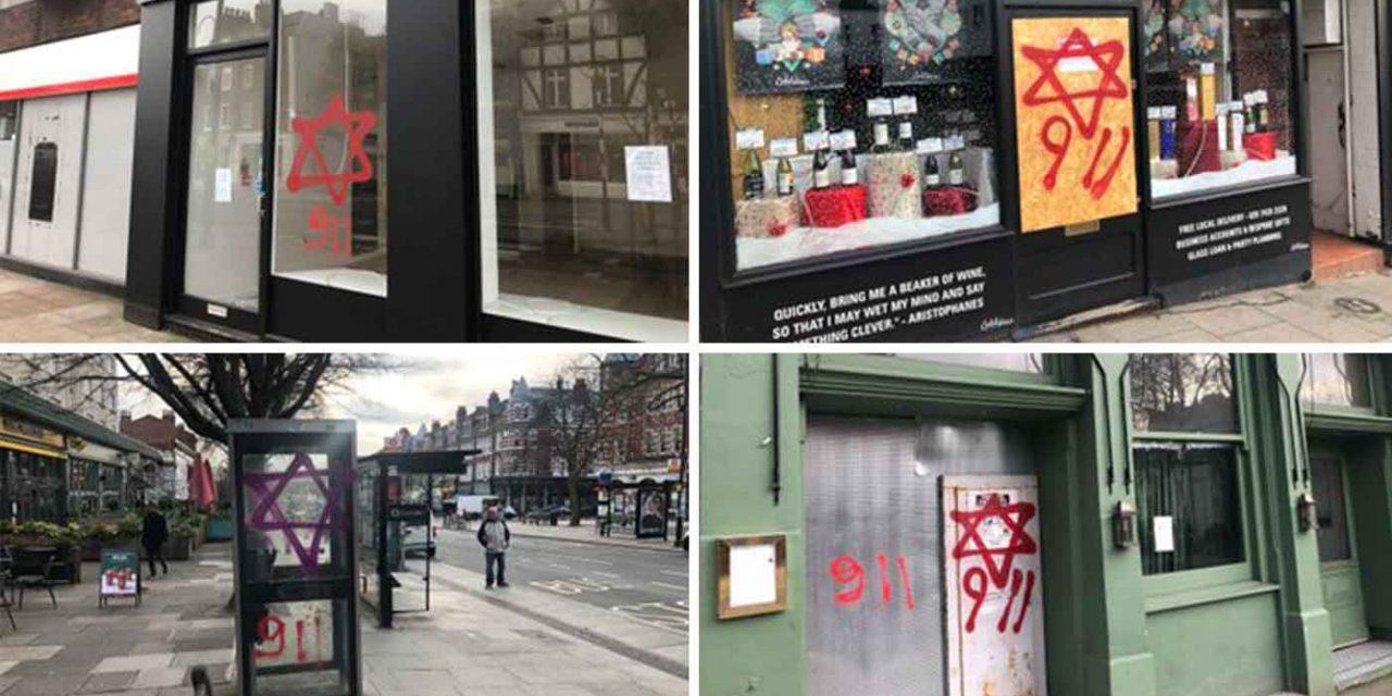 Anti-Semitic graffiti daubed on London shops and synagogue