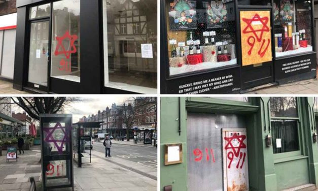 Anti-Semitic graffiti daubed on London shops and synagogue