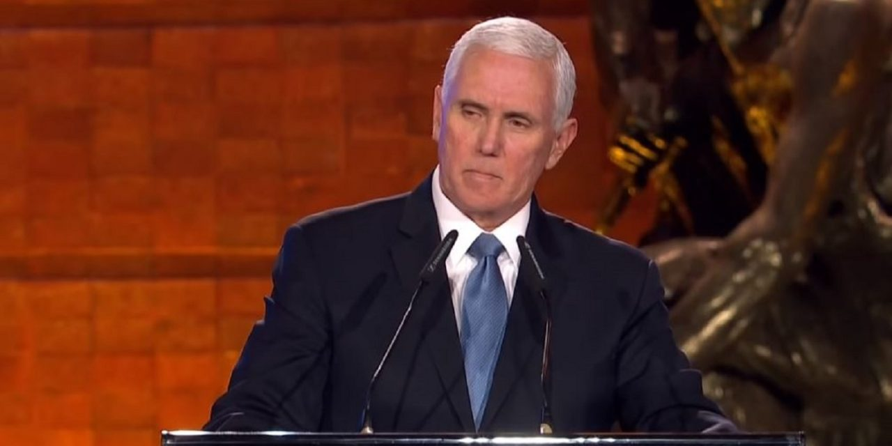 "Mike Pence: ""We remember a people restored to their rightful place among the nations of the earth"""