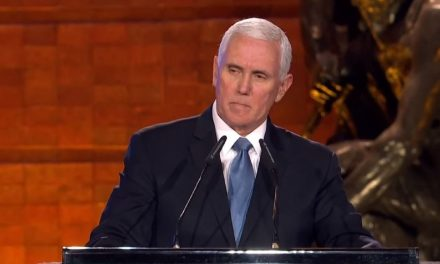 """Mike Pence: """"We remember a people restored to their rightful place among the nations of the earth"""""""