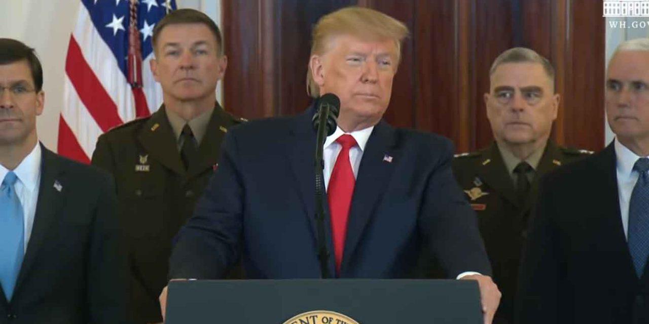 Trump's full speech: The days of tolerating Iran's destructive behaviour are over