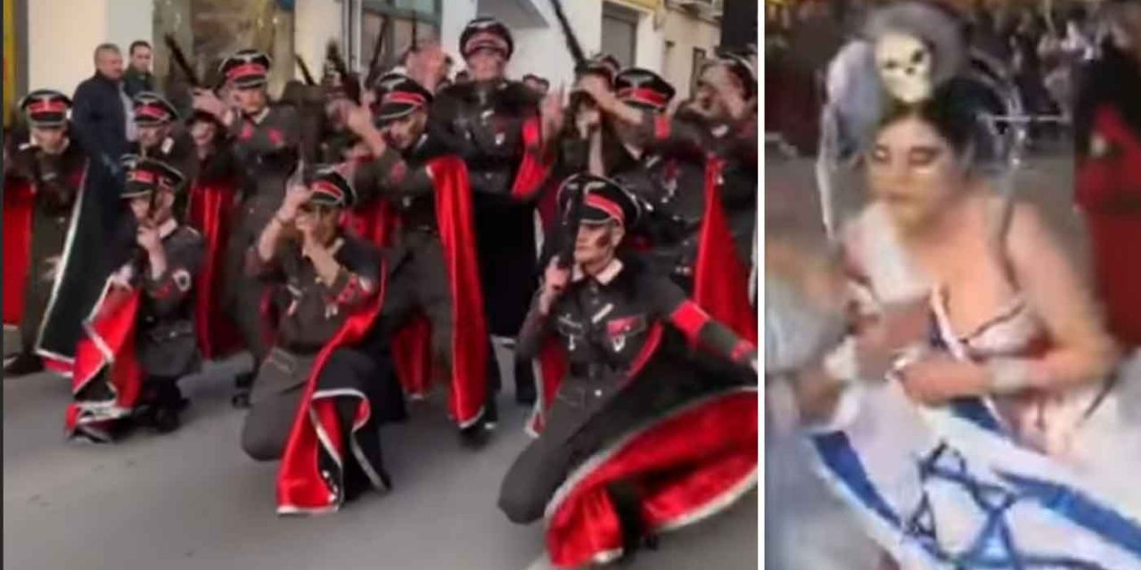 Outrage over Spanish carnival featuring dancing Nazis, skulls and Israeli flags