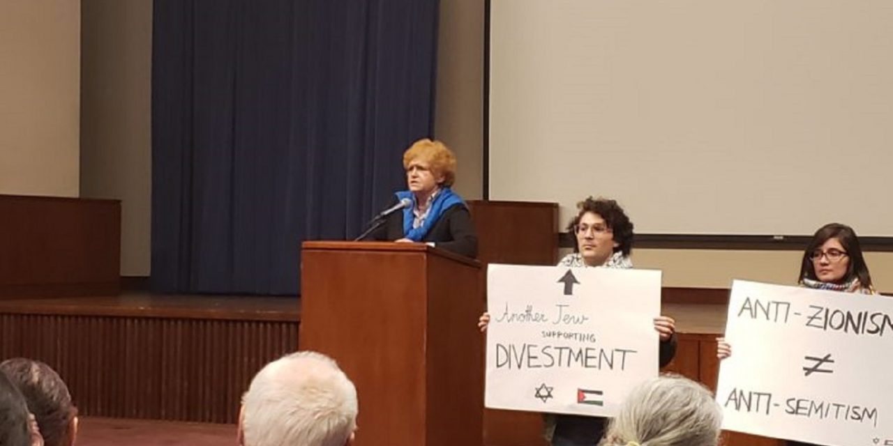 Anti-Israel protesters storm anti-Semitism lecture by Holocaust speaker at US university