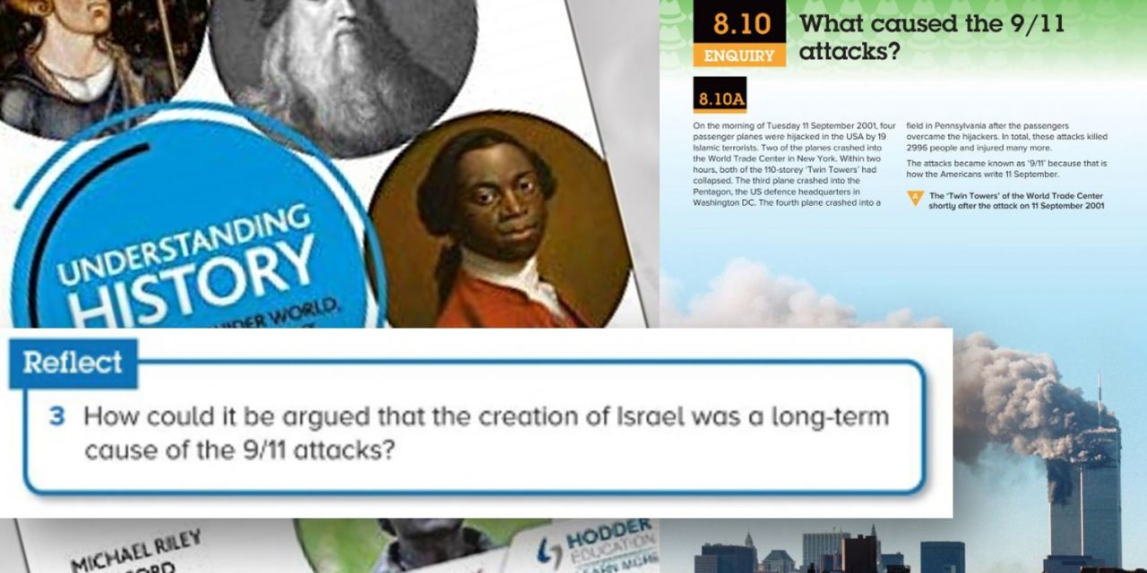 Outrage as UK school curriculum asks how Israel could be seen as cause of 9/11