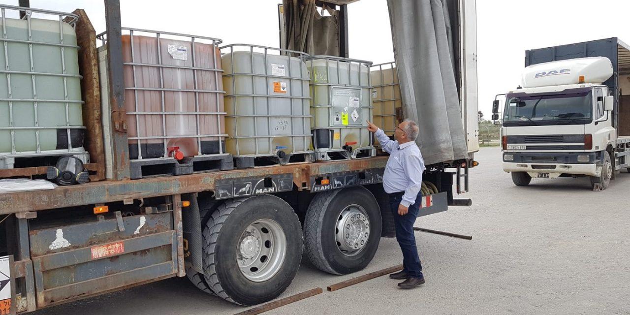 Israel sends truck load of disinfectant to help Palestinians combat Coronavirus