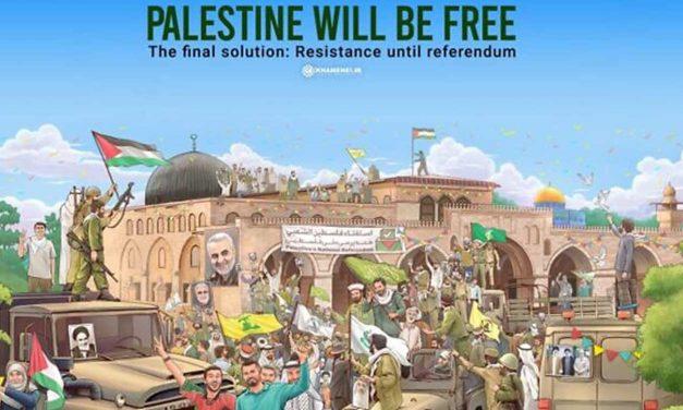 "Khamenei's website displays Nazi-like ""Final Solution"" poster calling for the destruction of Israel"
