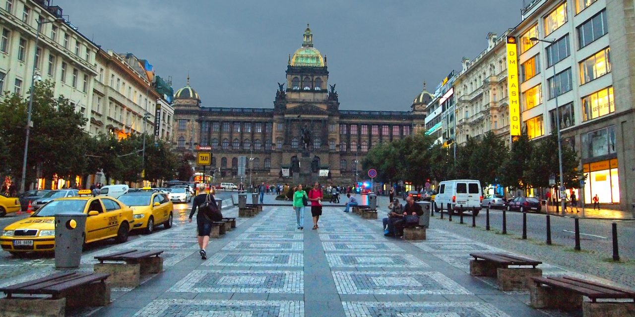 Renovation of historic square in Prague reveals it was made from Jewish gravestones