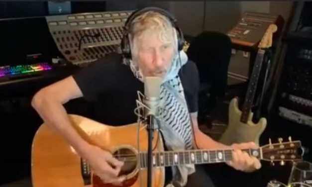 "Roger Waters sings ""We'll take back the land… from the Jordan river to the sea"""