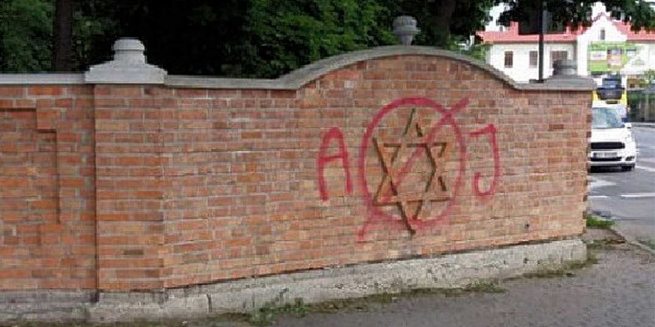 Jewish cemetery in Poland vandalised with spray-paint