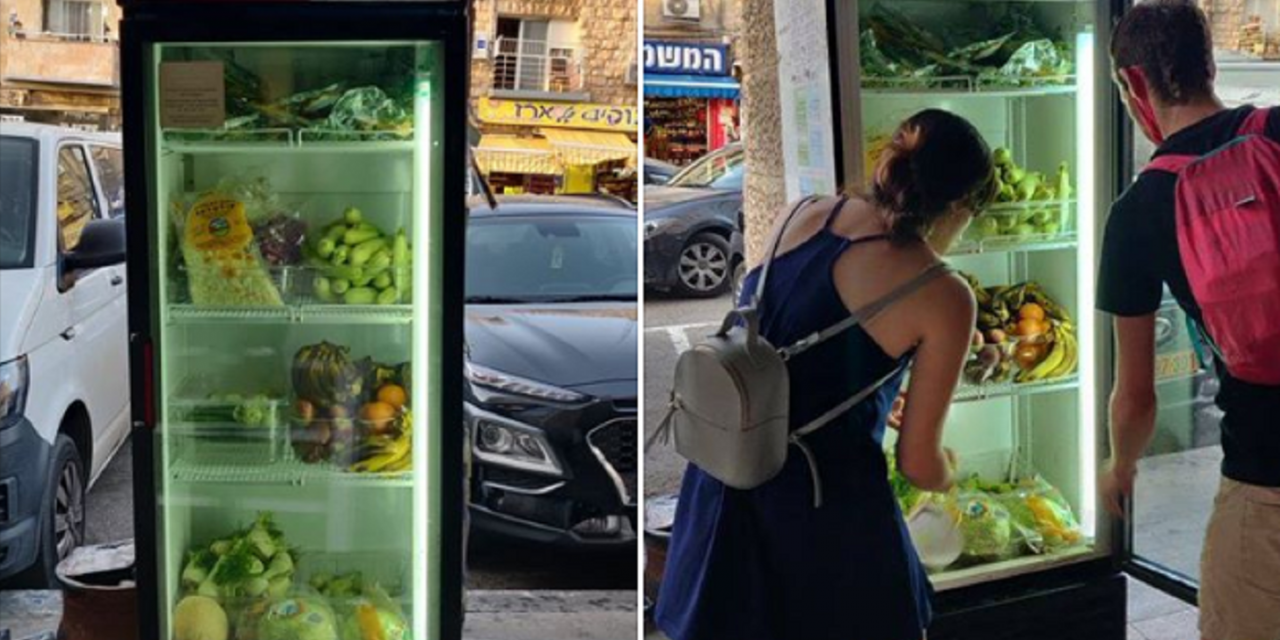 New public fridges to help poor and prevent waste placed in Israeli cities