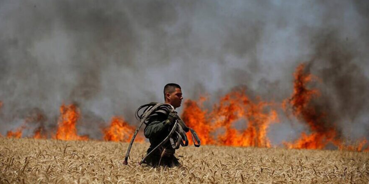 Incendiary balloons plague Israeli land near Gaza border, sparking new fires