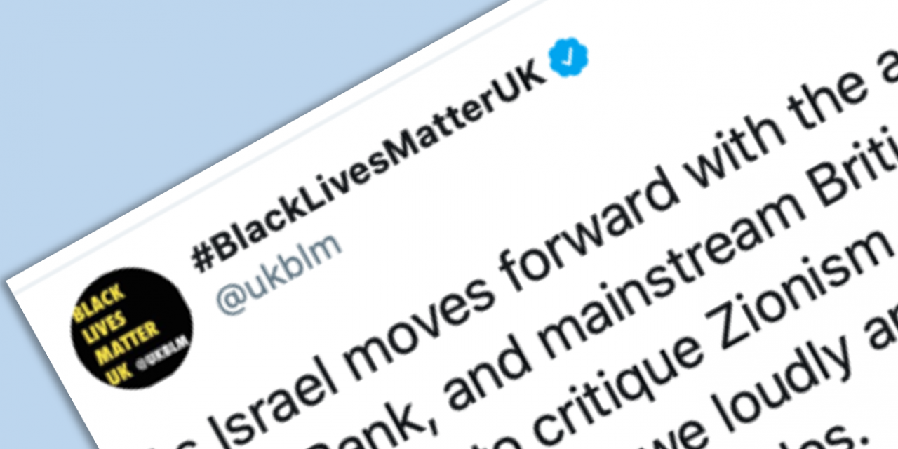 Black Lives Matter UK makes anti-Semitic trope against Zionism