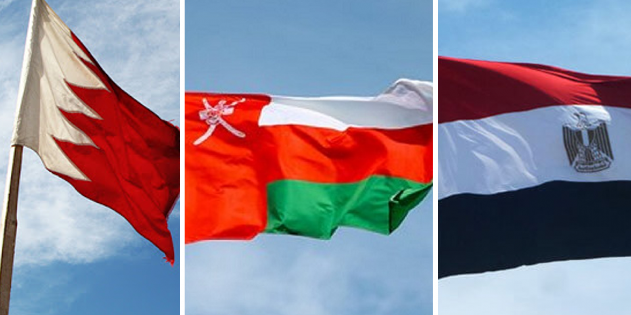 Bahrain, Oman and Egypt support UAE's peace agreement with Israel