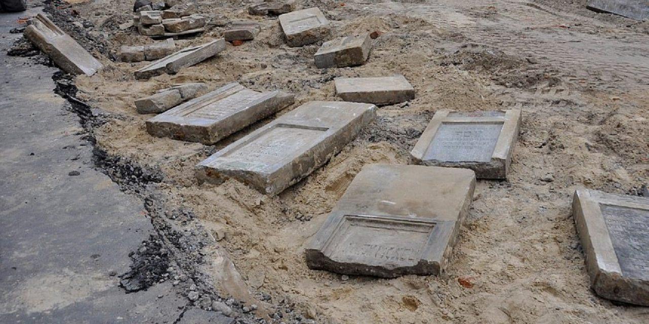 Dozens of Jewish headstones discovered under market in Poland