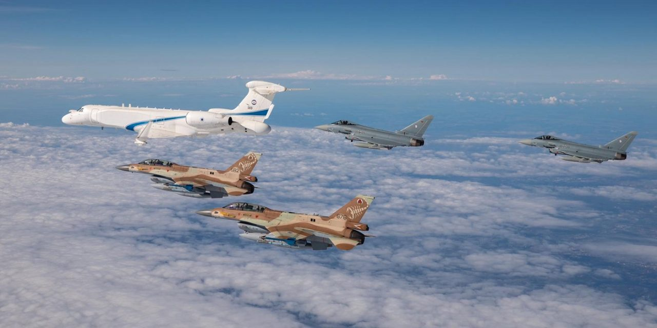 Israeli and German fighter jets flyover Dachau death camp to honour Holocaust victims