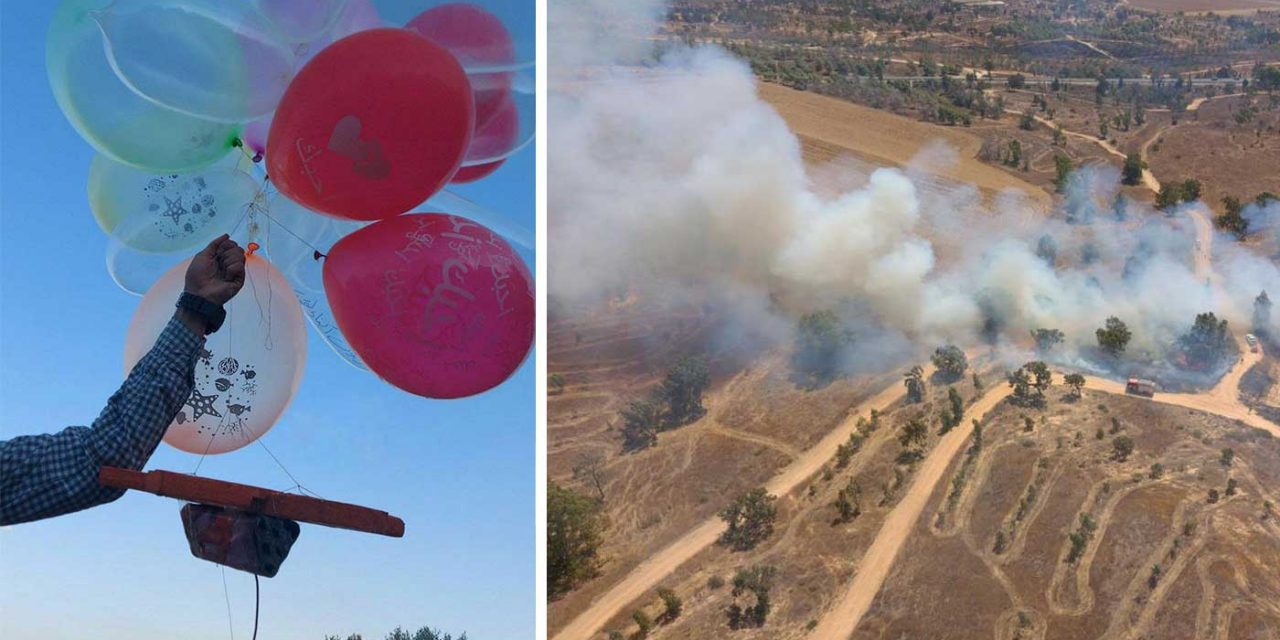 Israel strikes targets in Gaza after incendiary balloons spark 28 fires
