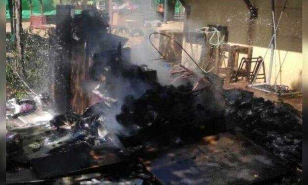 Hamas fire balloon causes fire at Sderot kindergarten