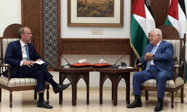 Dominic Raab meets Abbas, urges peace and UK gives £2.7 million to help needy Palestinians