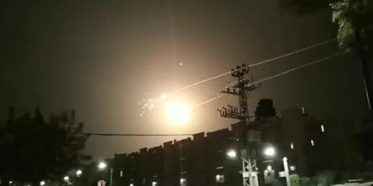 Barrage of rockets fired into Israel overnight; IDF responds by striking Hamas