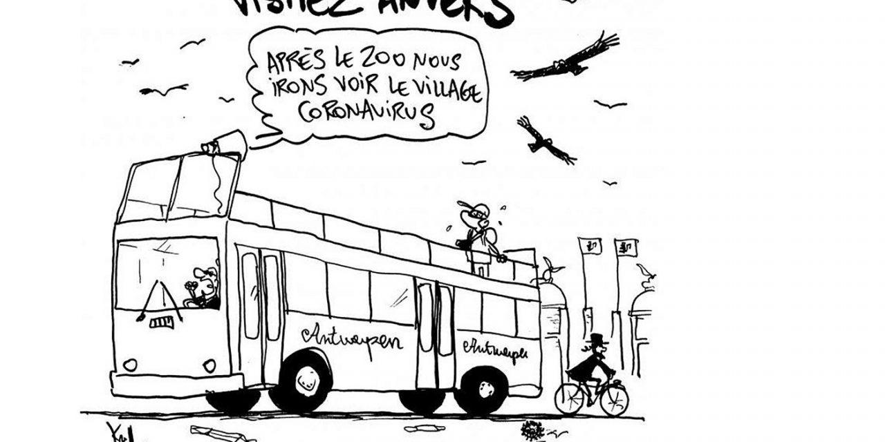 Belgian newspaper publishes cartoon accused of labelling Jewish neighbourhood as 'coronavirus village'