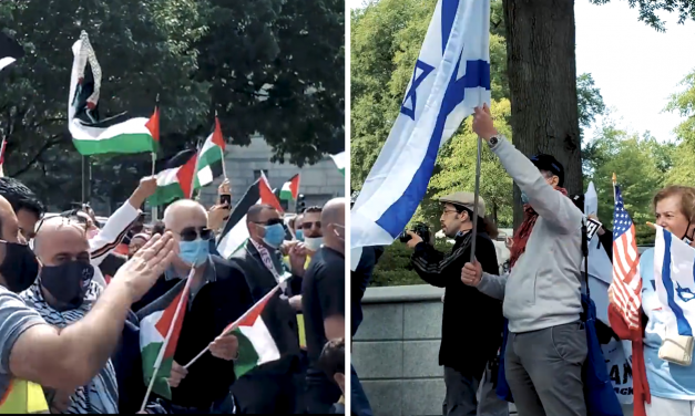 Pro-Palestinian protesters try to intimidate pro-Israel supporters outside White House