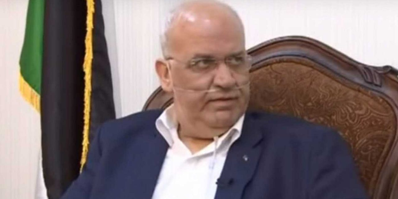 Top Palestinian official Saeb Erekat in critical condition with COVID, being treated in Israel