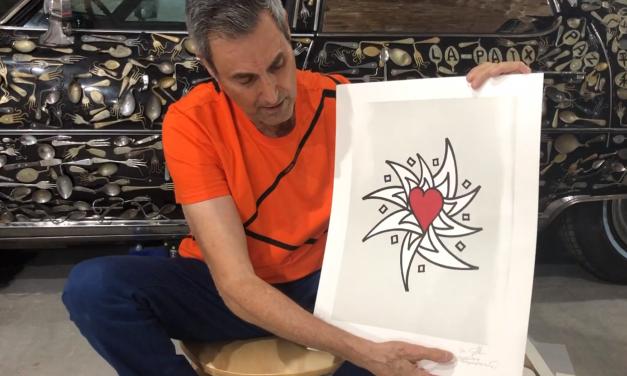 Uri Geller donates art to help schoolgirls's campaign to provide life-saving heart surgery in Israel