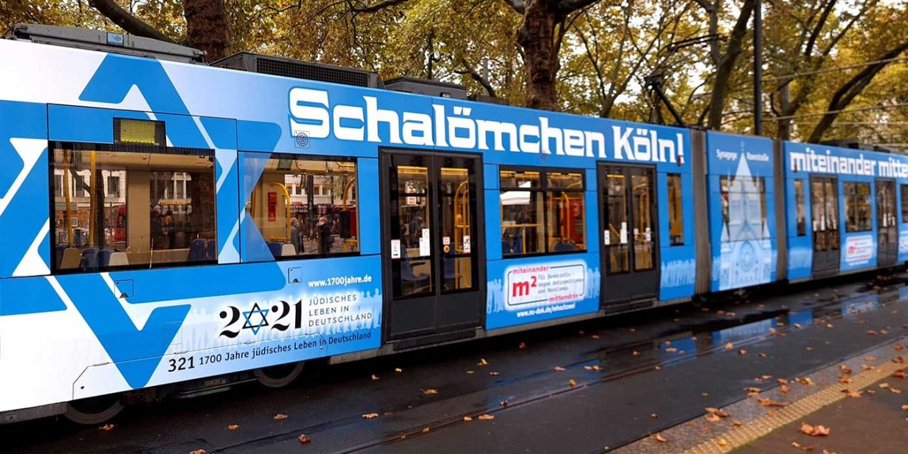 Cologne tram decorated to celebrate 1,700 years of German Jewish life
