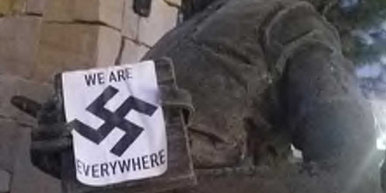 America's only Anne Frank memorial defaced with Swastikas