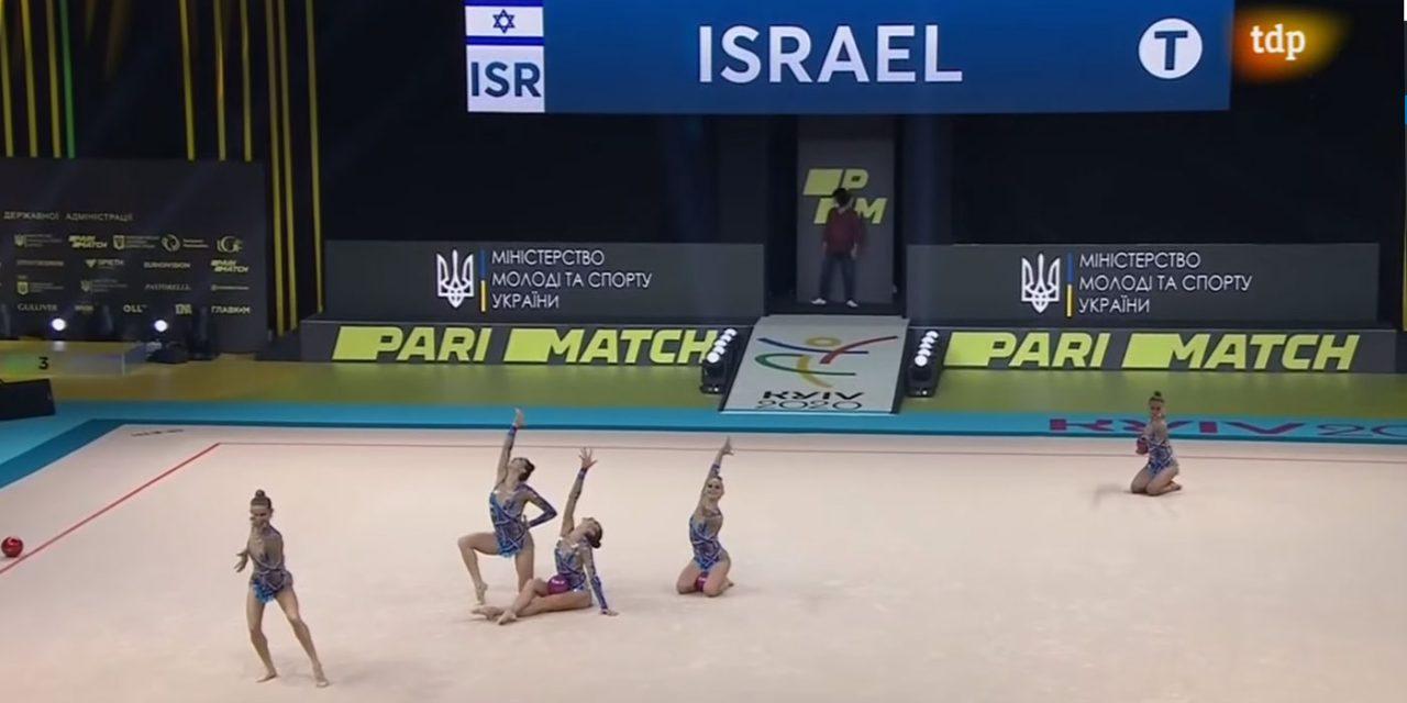 Israeli rhythmic gymnasts win team and individual golds at European Championships