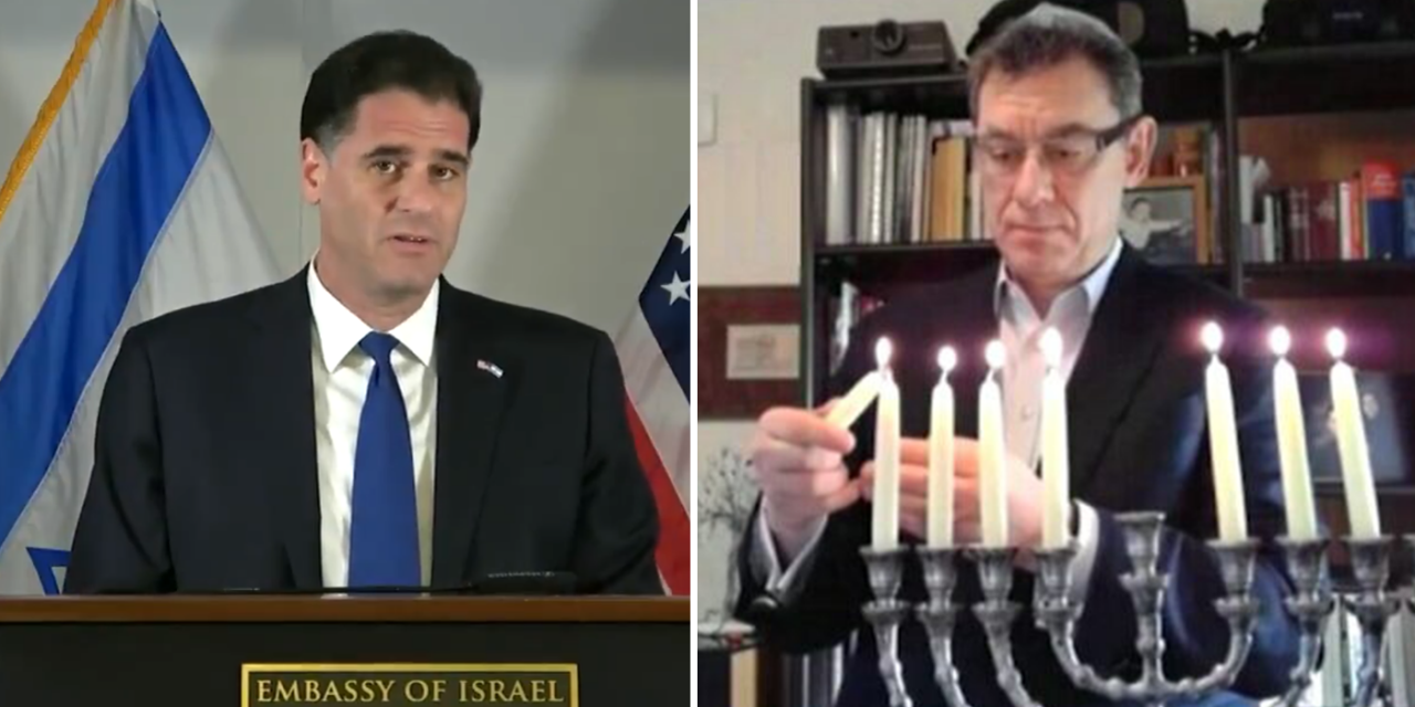 Pfizer CEO, son of Holocaust survivors, lights Hanukkah candle for Israeli embassy