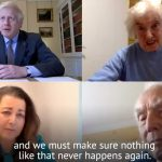 Prime Minister Johnson remembers Holocaust, holds virtual meeting with survivor and liberator