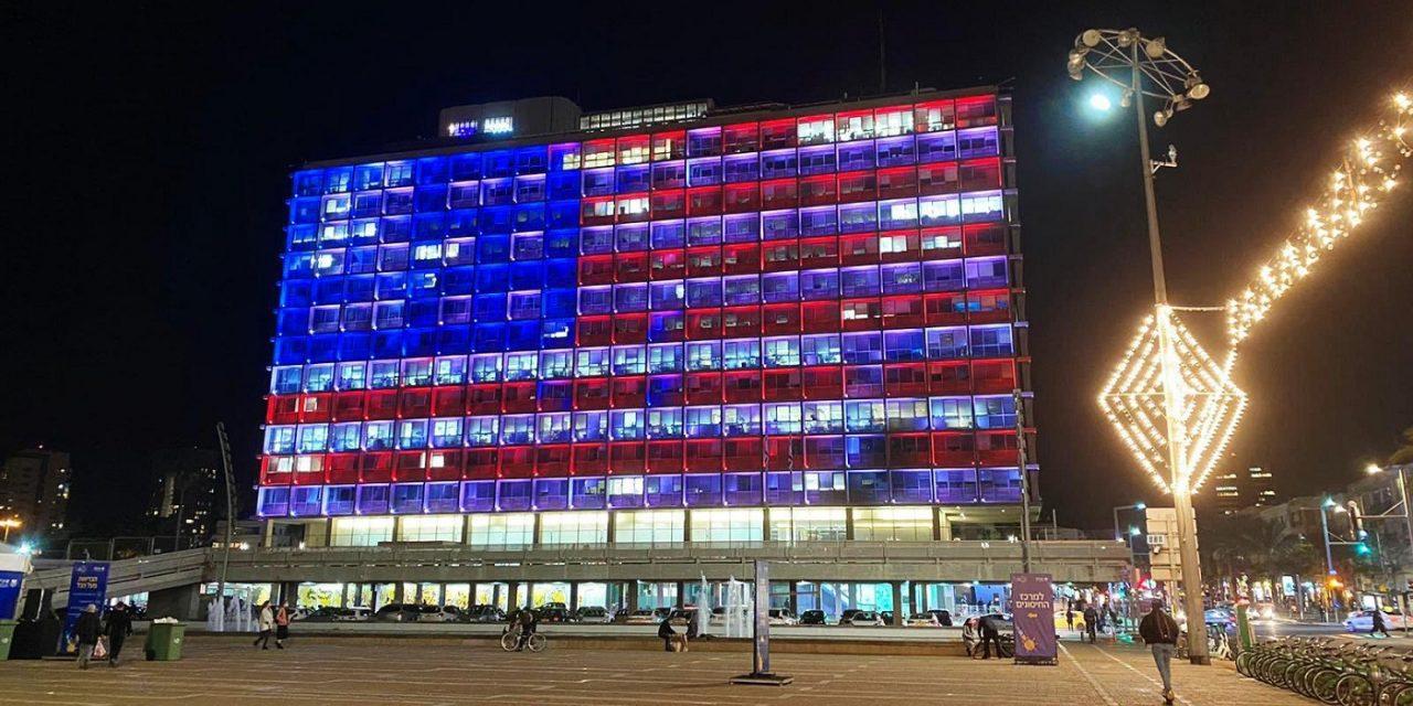 Tel Aviv lights city hall in US flag following Capitol Hill riot