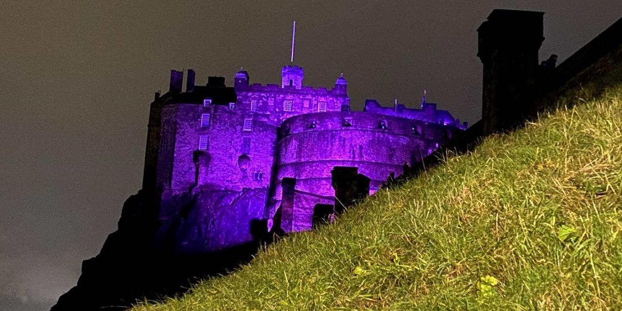 Landmarks across the UK lit in purple to mark Holocaust Memorial Day