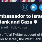 US Embassy adds 'West Bank and Gaza' to Twitter name, then changes back