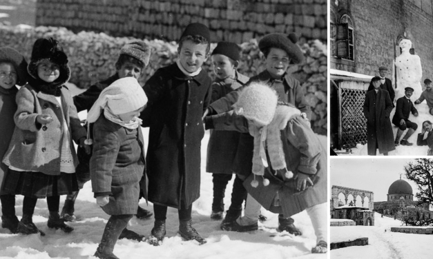 100 years ago: Rare photos of snowy Jerusalem in 1921