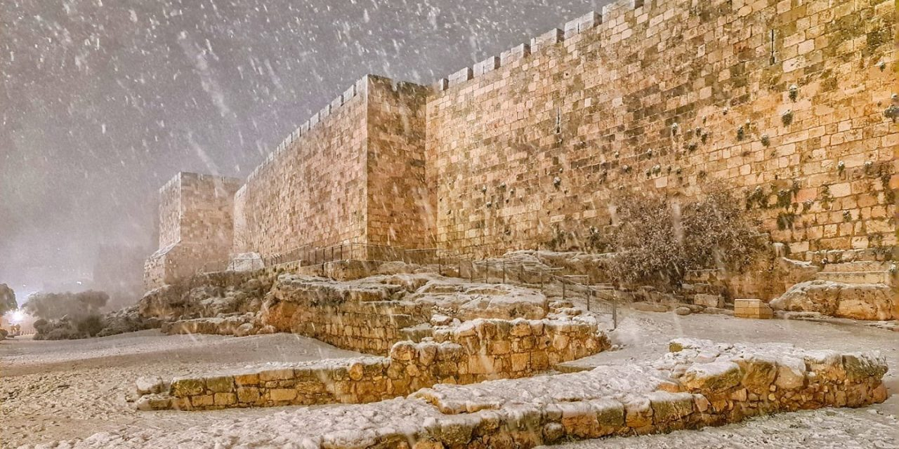 IN PICTURES: Rare snowfall in Jerusalem leaves Holy City blanketed in white