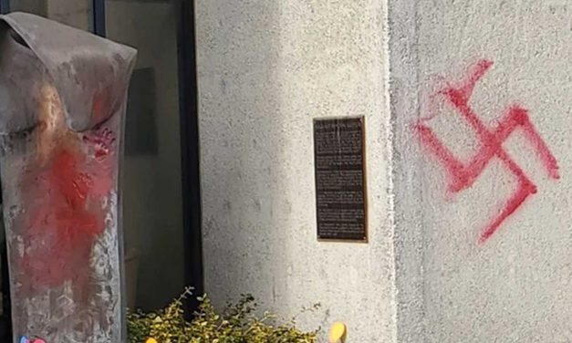 Washington synagogue vandalized with swastikas, Holocaust memorial damaged