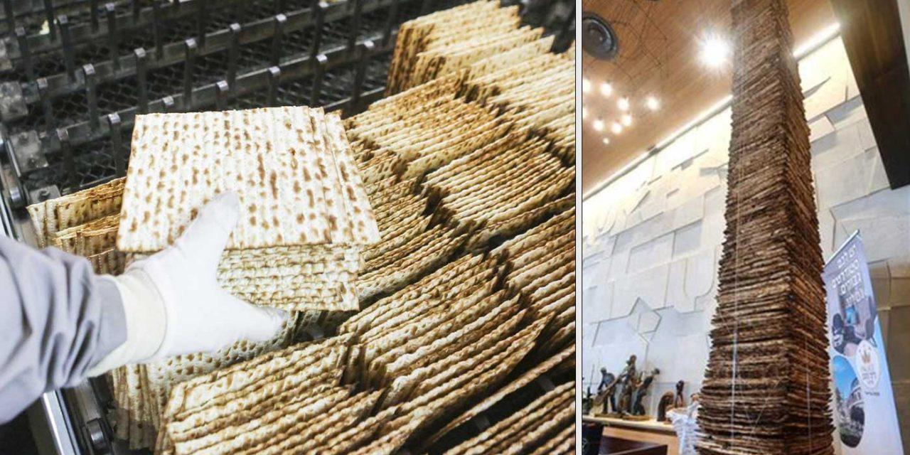 Israeli community builds worlds largest 'Matzah tower'