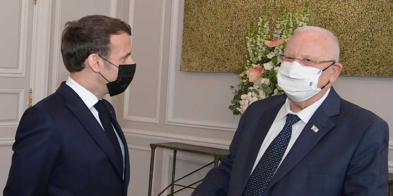Rivlin thanks Macron for backing French law change after anti-Semitic murderer avoids trial