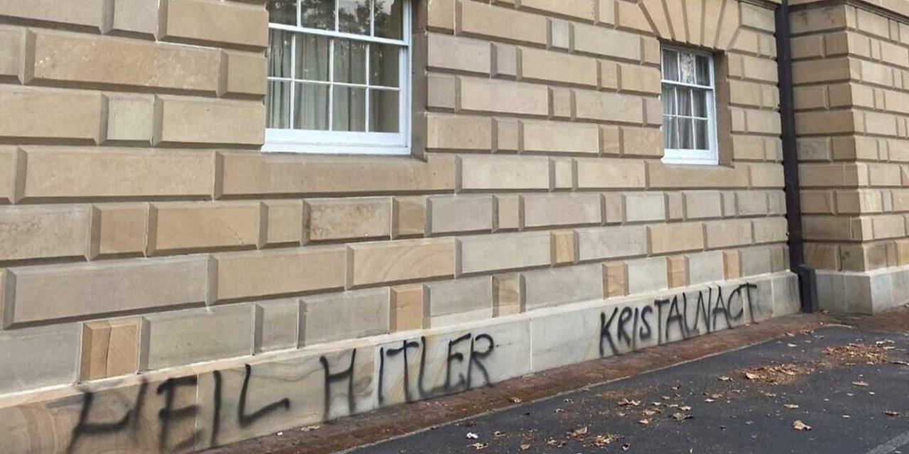 Neo-Nazi graffiti daubed on Tasmania's parliament building
