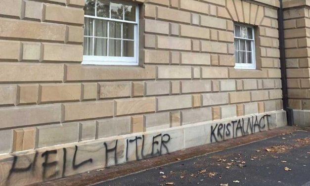 Neo-Nazi graffiti daubed on Tasmania's parliament building