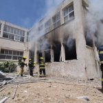 Two Israelis killed in rocket barrage; School among buildings hit