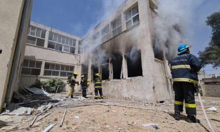 Two Israelis killed in rocket barrage; School among buildings hit