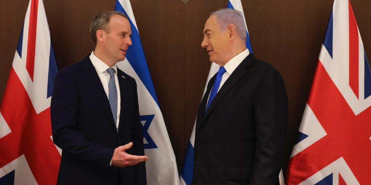 'You can always count on us' – Raab tells Netanyahu